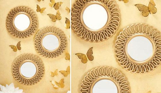 Set x 3 espejos decorativos Rosse